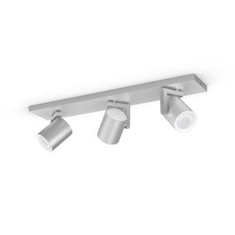 Spot pour plafond et mur, kit d'extension Philips Hue Ambiance White & Color Argenta Argenté, 3 lumières, Changeur de couleurs