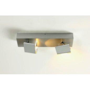 Spot plafond Bopp Elle LED Chrome, Aluminium, 2 lumières