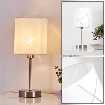 Lampe de table Corfu Argenté, 1 lumière