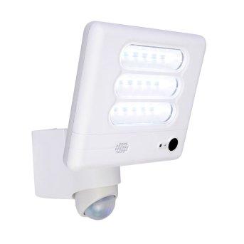 Lampe avec caméra Lutec ESA LED Blanc, 1 lumière, Détecteur de mouvement