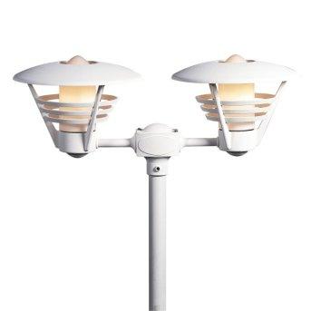 Lampadaire extérieur Konstsmide Gemini Blanc, 2 lumières