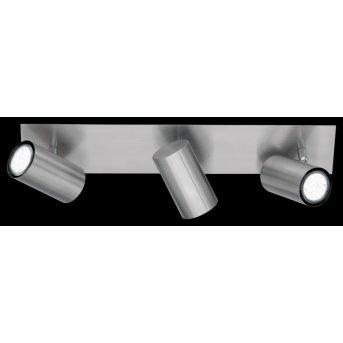 Plafonnier Trio 8024 Nickel mat, Acier inoxydable, 3 lumières