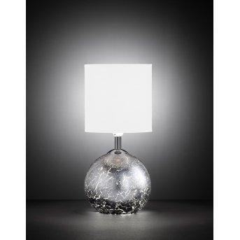 Lampe à poser Wofi CARMEN Argenté, 1 lumière