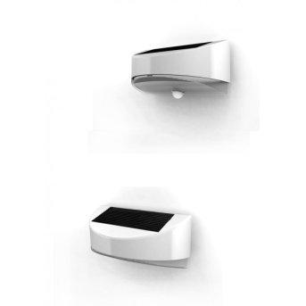 Applique extérieure LUTEC BREAD LED Argenté, 1 lumière, Détecteur de mouvement