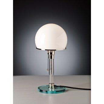 Wagenfeld 24 Tecnolumen Lampe à poser Nickel mat, Transparent, 1 lumière