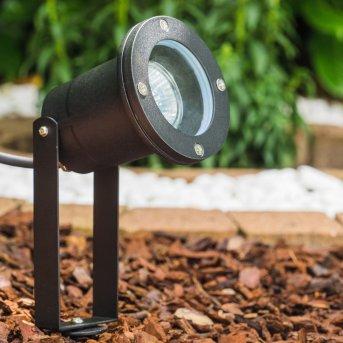 Projecteur de jardin Pilsen Noir, 1 lumière