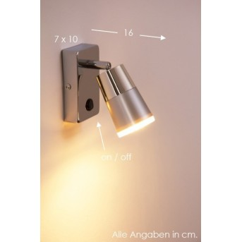 Applique murale Leuchten Direkt DALLI LED Chrome, 1 lumière