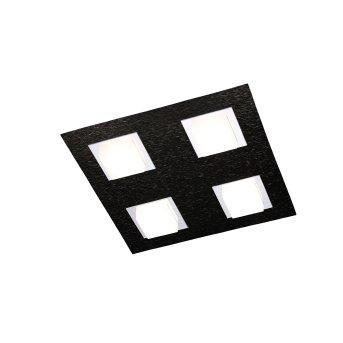 Plafonnier Grossmann BASIC LED Noir, 4 lumières