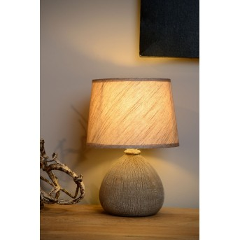 Lampe de table Lucide RAMZI Brun, 1 lumière