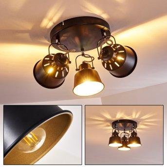 Plafonnier Safari Noir, 3 lumières