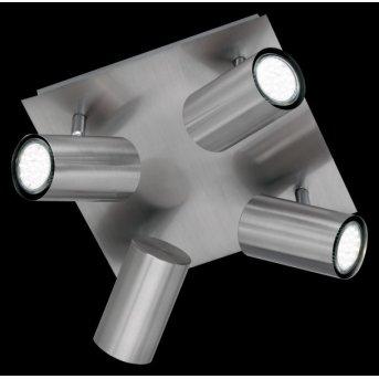 Plafonnier Trio 8024 Nickel mat, Acier inoxydable, 4 lumières
