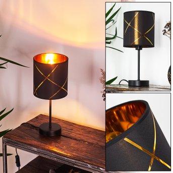 Lampe de table Opatija Noir, 1 lumière