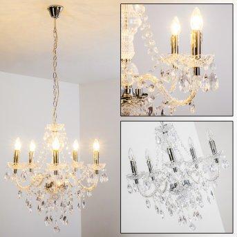Lustre à 5 lampes Transparent, 5 lumières