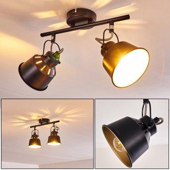 Plafonnier Safari Noir, 2 lumières