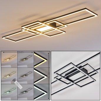 Plafonnier Alsterbro LED Noir, 1 lumière