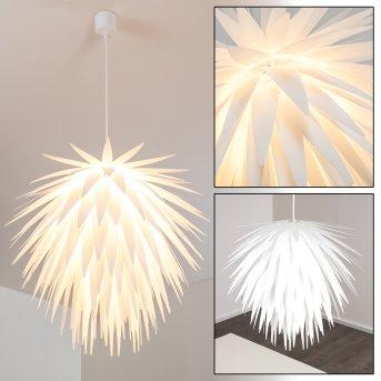 Suspension Grinder Blanc, 1 lumière