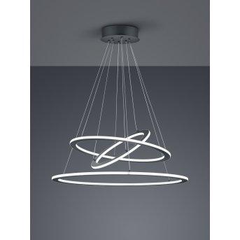 Suspension Trio Durban LED Anthracite, 1 lumière