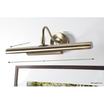 Lampe d'éclairage de tableau Globo Picture Vieux laiton, 2 lumières