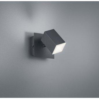 Applique murale Trio LAGOS LED Noir, 1 lumière