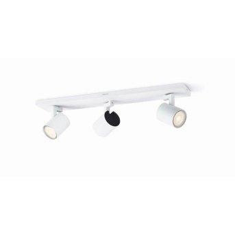 Plafonnier Philips Runner LED Blanc, 3 lumières
