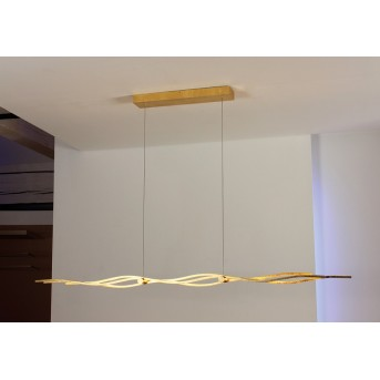 Suspension Escale SILK LED Or, 1 lumière