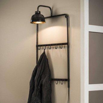 Porte-manteaux LEENS Noir, Gris, 1 lumière
