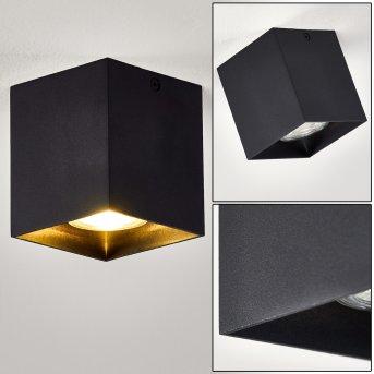 Plafonnier Curacao Noir, 1 lumière
