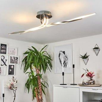 Plafonnier REMO LED Nickel mat, 1 lumière