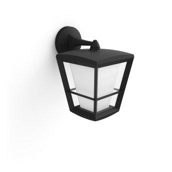 Applique murale Philips Hue Ambiance White & Color Econic LED Noir, 1 lumière, Changeur de couleurs