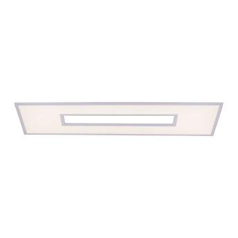 Plafonnier Leuchten-Direkt RECESS LED Blanc, 2 lumières, Télécommandes, Changeur de couleurs