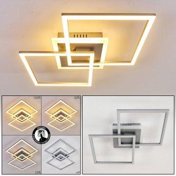Plafonnier Lithgow LED Argenté, 1 lumière