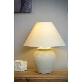 Lampe de table Lucide RAMZI Beige, 1 lumière