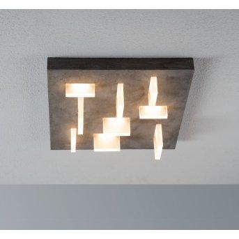 Plafonnier Escale Sharp LED Gris, 9 lumières