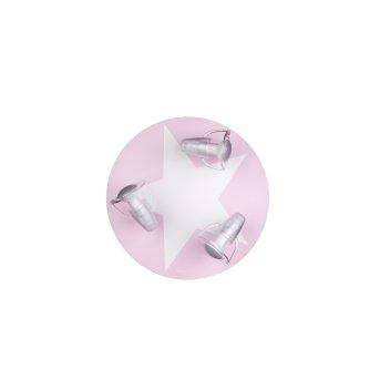 Plafonnier Waldi Wimbel Blanc, Rose, 3 lumières