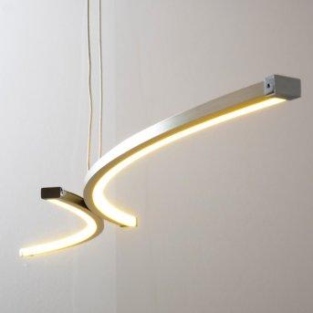 Suspension Glenwood LED Nickel mat, Chrome, 2 lumières