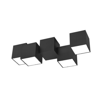 Plafonnier Grossmann ROCKS LED Noir, 4 lumières