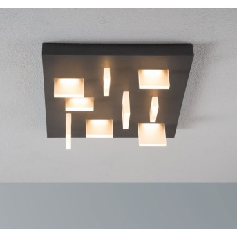 Plafonnier Escale Sharp LED Anthracite, 9 lumières