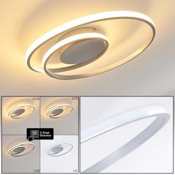 Plafonnier Leksund LED Argenté, 1 lumière