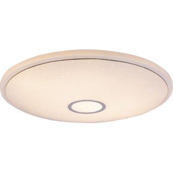Plafonnier Globo CONNOR LED Blanc, 1 lumière, Télécommandes, Changeur de couleurs