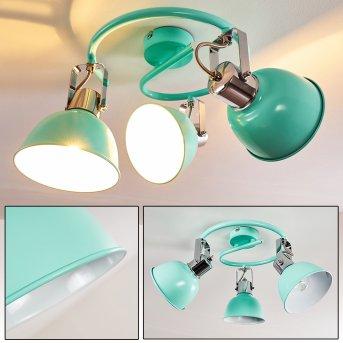 Plafonnier Dompierre Vert, Blanc, 3 lumières