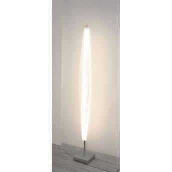 Lampadaire Escale Stratos LED Nickel mat, 1 lumière