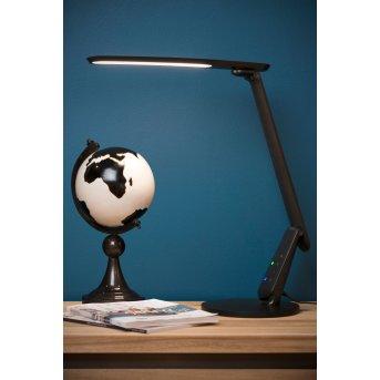 Lampe de table Lucide PRACTICO LED Noir, 1 lumière