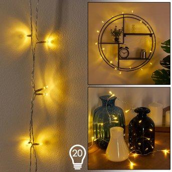Guirlande Sondrio LED Blanc, 20 lumières