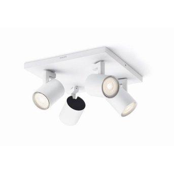 Plafonnier Philips Runner LED Blanc, 4 lumières