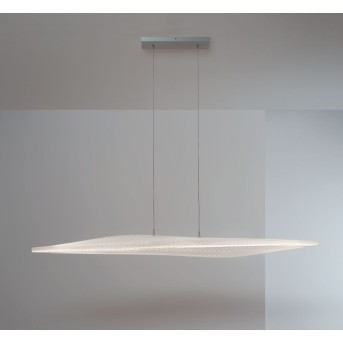 Suspension Escale Stratos LED Nickel mat, 1 lumière