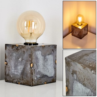 Lampe à poser Süderhaff Gris, 1 lumière