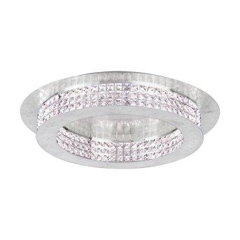 Plafonnier Eglo PRINCIPE LED Argenté, Aspect cristal, 14 lumières