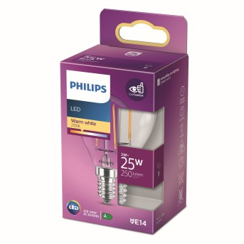 Philips LED E14 2 Watt 2700 Kelvin 250 Lumen