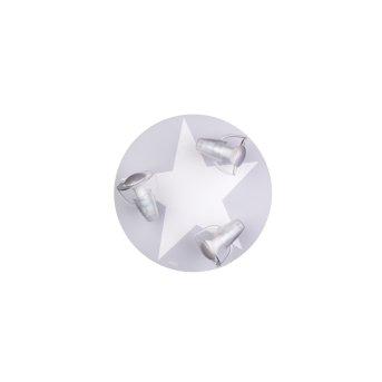 Plafonnier Waldi Stardel Gris, Blanc, 3 lumières
