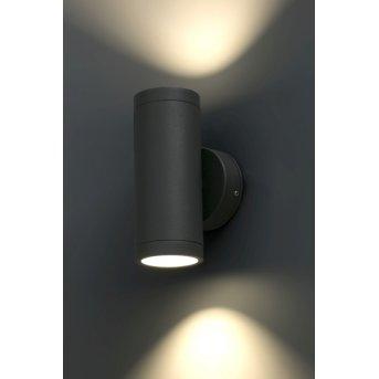 Applique murale Faro Cobo LED Anthracite, 1 lumière